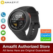 Глобальная версия Amazfit грани Смарт-часы GPS отвечайте на звонки, устройство для отслеживания сердцебиения во время сна монитор Музыка Смарт-часы IP68 Водонепроницаемый 11 видов спорта