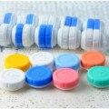 Comercio al por mayor 100 unids/lote Gafas Estética Caja de Lentes de Contacto Caso de Lentes de Contacto para Los Ojos Cuidado Kit Holder Container Freeshipping