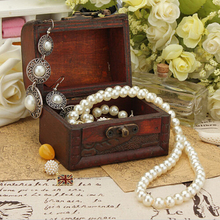 Stylish wood jewelry boxes Vintage Pearl Necklace Bracelet Storage Organizer Handmade Wooden Case Gift box Drop Shipping