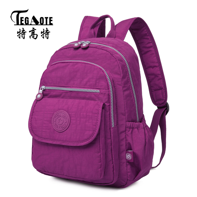 TEGAOTE 2017 Classic Girls School Backpack Female College Bagpack for  Teenagers Anti-theft Laptop Casual dec34f320cd5d