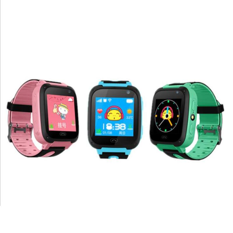Children's Smart Watch with GPS Camera Pedometer SOS Emergency Wristwatch SIM Card Smartwatch For Ios Android Support English E floveme q5 bluetooth 4 0 smart watch sync notifier sim card gps smartwatch for apple iphone ios android phone wear watch sport