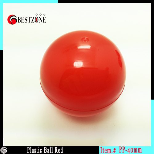 Factory 40mm Beauty Plastic Ball Red Colored Soft Round Balls empty plastic capsules for ...