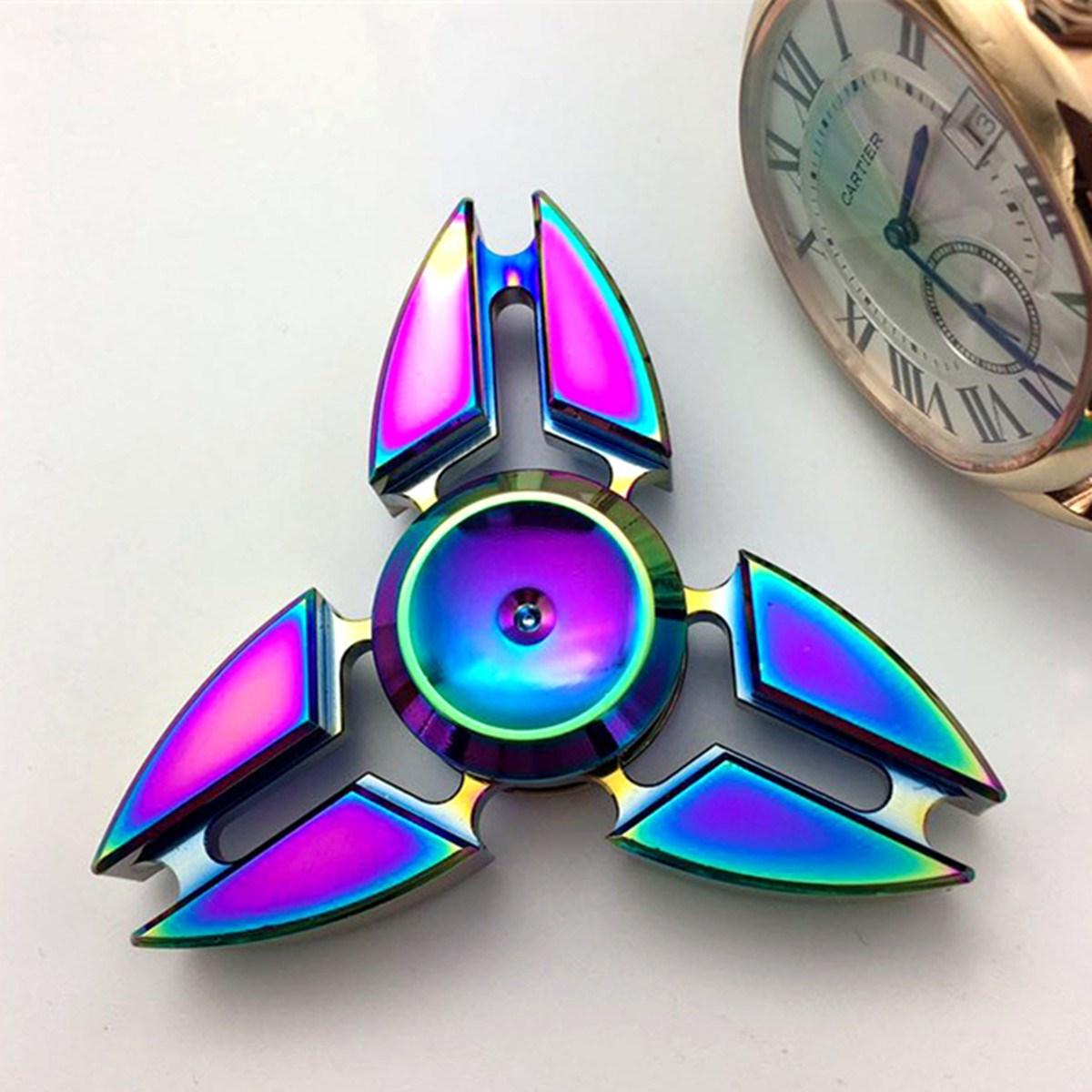 Funny EDC Hand Spinner Fidget Spinner Gadget Tri Spinner Finger Reduce Stress Gadget Toys Gift For