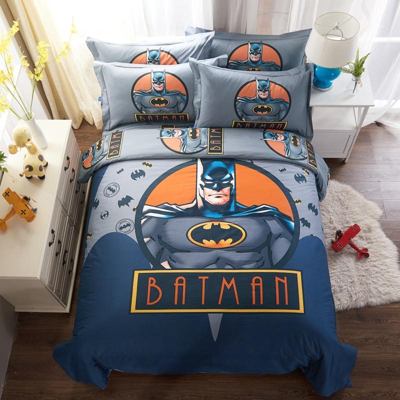 Cartoon Batman Bedding Sets For Boyu0027s Childrenu0027s Bedroom Decor Twin Queen  King Size Quilt Cover Bed
