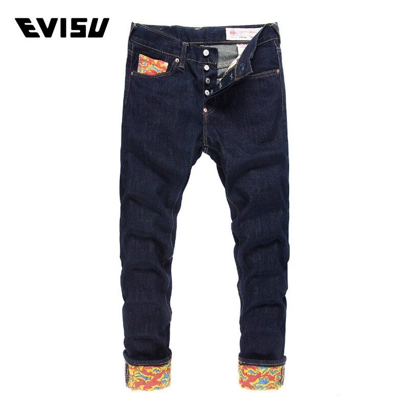 Evisu Men Jeans Male Brand Denim Long Pants Men's Biker Jogger Jeans Casual Fashion Solid Skateboard Trousers Cowboys 6159 men denim cargo pants pocket fashion leisure jeans male fashion casual jeans trousers