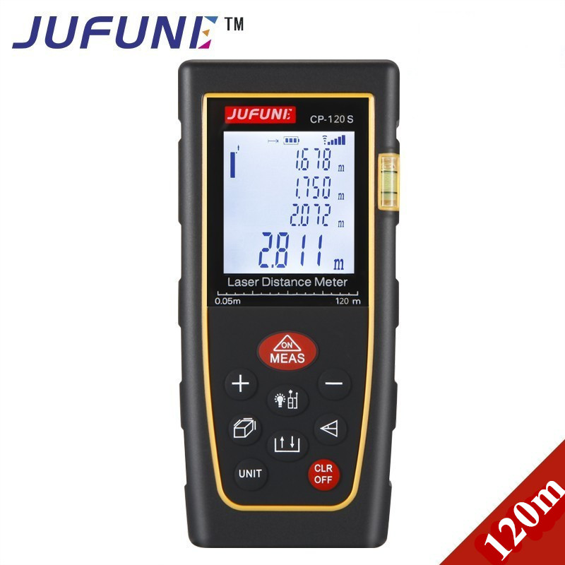 Jufune CP-120S 120M Digital Laser Distance Meter Range Finders Measurer Diastimeter cp 3007 1 8 lcd ultrasonic distance measurer with red laser pointer 1x6f22