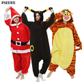 Alta calidad Polar fleece Adultos animal Pijamas Panda tiger womens invierno Pijama de Dormir Onesie cosplay Onesies Pijamas