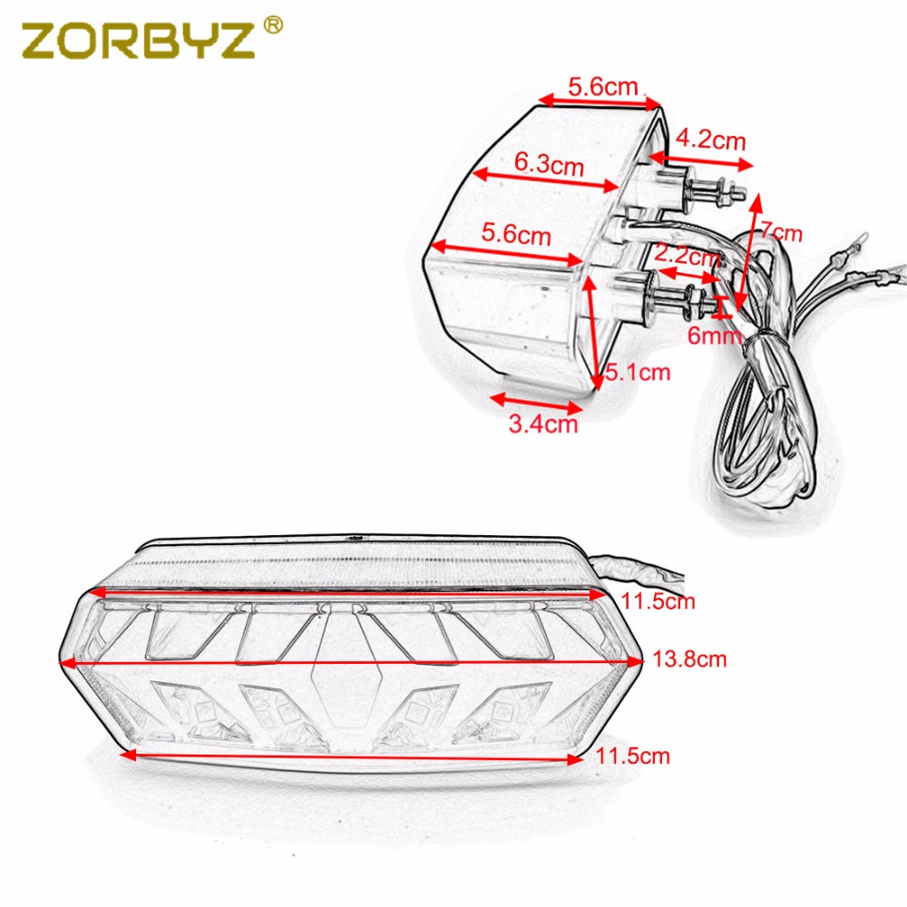 Zorbyz Motorcycle Led Tail Brake Turn Signals Light For Honda Grom Wiring Diagram Msx 125 Cbr650f Ctx700 Ctx700n 2014 2015 On Alibaba Group