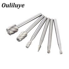 6PCS Mini Drill Bits HSS Dremel Rotary Tool Milling Burr Set Dremel Tools for Woodworking Carving Tools Kit Dremel Accessories