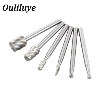 цена на 6PCS Mini Drill Bits HSS Dremel Rotary Tool Milling Burr Set Dremel Tools for Woodworking Carving Tools Kit Dremel Accessories