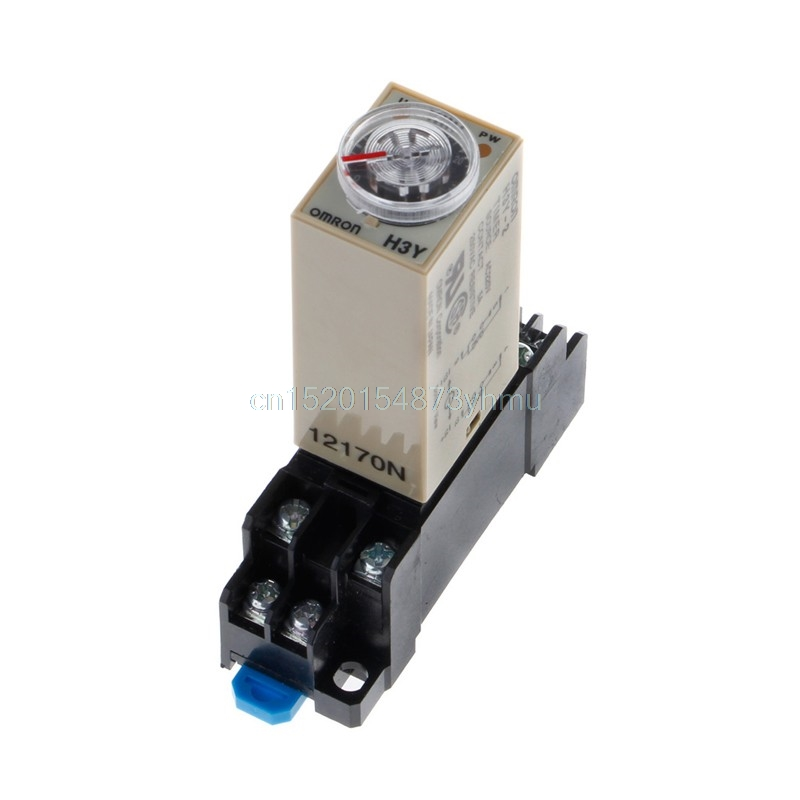 H3Y-2 220V AC Power On Time Delay Relay Solid State Timer 1.0~30 Min Socket Base #L057# new hot кабель vga 3 0м aopen 2 фильтра acg341ad 3m