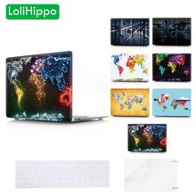 LoliHippo World Map Series Laptop Protective Case Replace Notebook Cover for Apple Macbook New Air Pro 11 13 15 Inch A1425 A1706