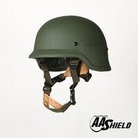 AA Shield Ballistic PASGT M88 Tactical Teijin Helmet Color OD Green Bulletproof Aramid Safety NIJ Level IIIA Military Army