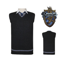 Harry Potter Sweater Vest Gryffindor Raven claw Cosplay Costume Man Waistcoat