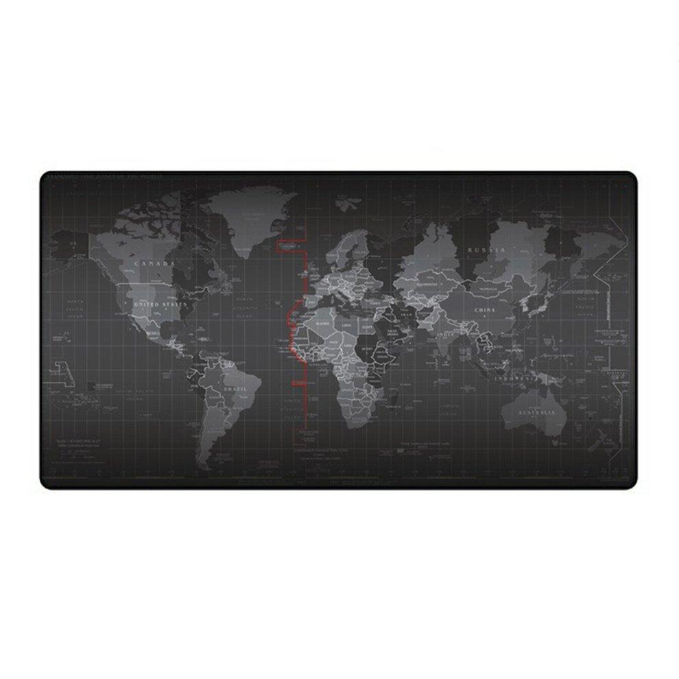 5 pièces 300X800X2mm étendu Super grande carte du monde clavier tapis de souris anti-dérapant tapis de souris