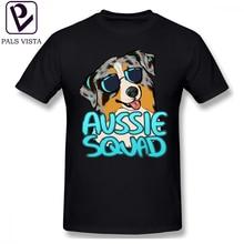 Australian Shepherd T Shirt AUSSIE SQUAD T-Shirt Casual Fun Tee Man Plus size  Printed Cotton Short Sleeve Tshirt