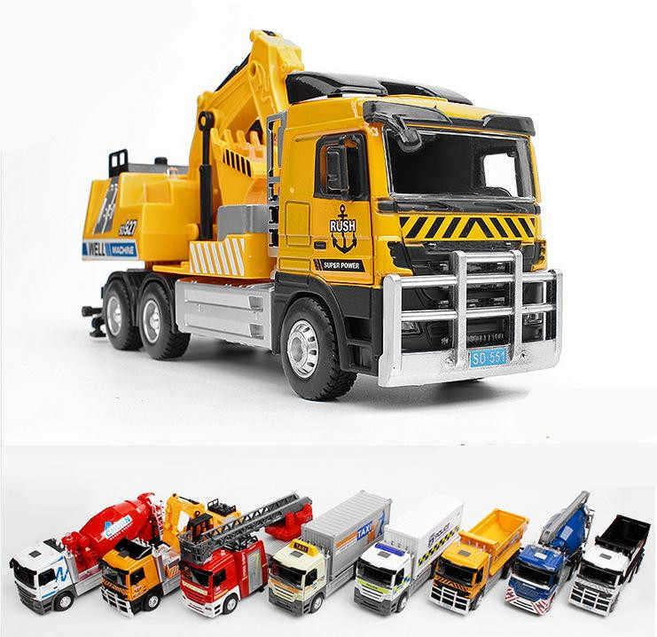 1:32 alloy construction vehicle model, high imitation fire truck, dump truck, excavator,engineering toy vehicle,free shipping