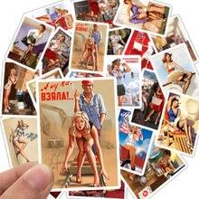 Pegatinas de póster de la II Guerra Mundial para chica, pegatinas impermeables DIY para coche, teléfono, motocicleta, equipaje, portátil, 25 uds.
