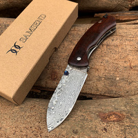 Hot EDC Handmade Damascus Pocket Knife VG10 Multifuntion Tools Hunting Folding Knife Collection Hiking Fishing Camping Knives