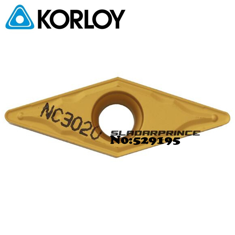 Original Korloy VBMT160404-HMP NC3020 VBMT160408-HMP NC3020 <font><b>VBMT</b></font> <font><b>160404</b></font> 160408 Carbide Inserts for Steel Carbide Inserts Tools image