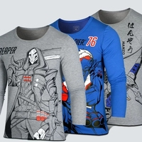 Game OW Reaper SOLDIER 76 Hanzo Copslay Cotton Long Sleeve T Shirt 2017 New Spring Antumn