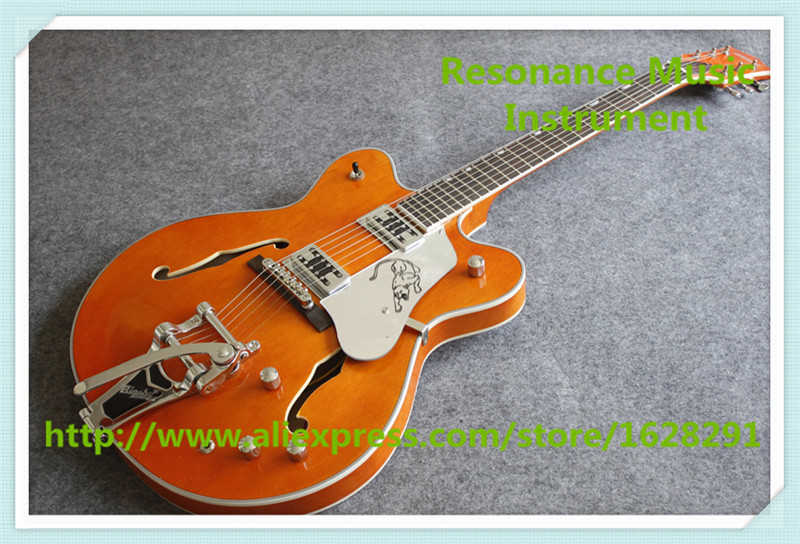 New Arrival Glossy Orange Grets Electric Guitars China OEM Guitars Electric As Picture цена