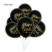 Shiny Eyes 10pcs Team Bride Wedding Party Pattern Latex Balloons Confetti Balloons Hen Night Bachelorette Party Decorations цена и фото