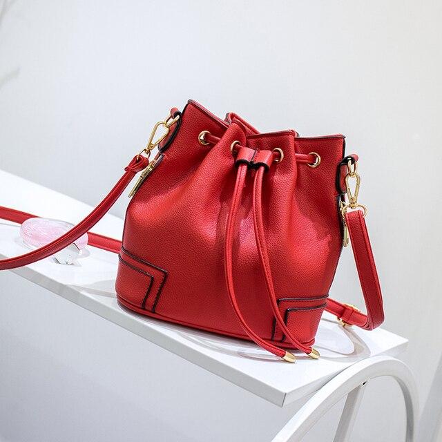 Hot Fashion Women Crossbody Bag Messenger Bags Bucket Bag Tote Women Bag PU Leather Bolsas Feminina Purse Satchels Handbag