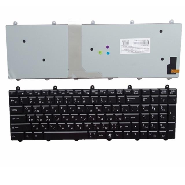 c9075dceb0d RU Backlight black New FOR Clevo P150EM P170EM X511 K680S X711 K670 Laptop  Keyboard Russian