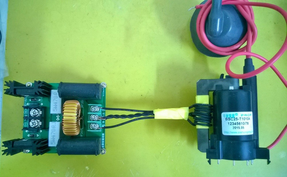 How to use zvs driver to power tesla coil's primary