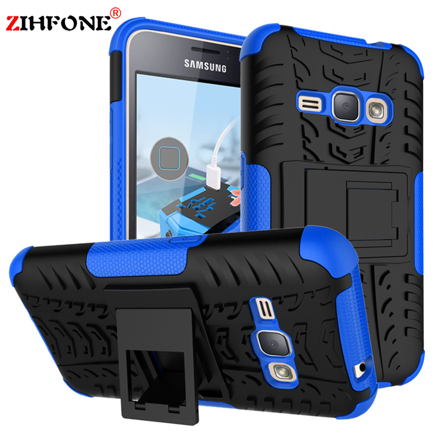 For Samsung Galaxy J1 2016 Cover SM-J120F Shockproof TPU + PC Phone Case #<