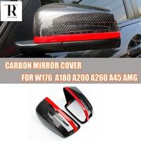 W176 fibra de carbono substituído estilo retrovisor espelho lateral capa para mercedes benz w176 A CLASS a180 a200 a260 2013 2014 2015|side mirror cover|mirror caps|w176 carbon -