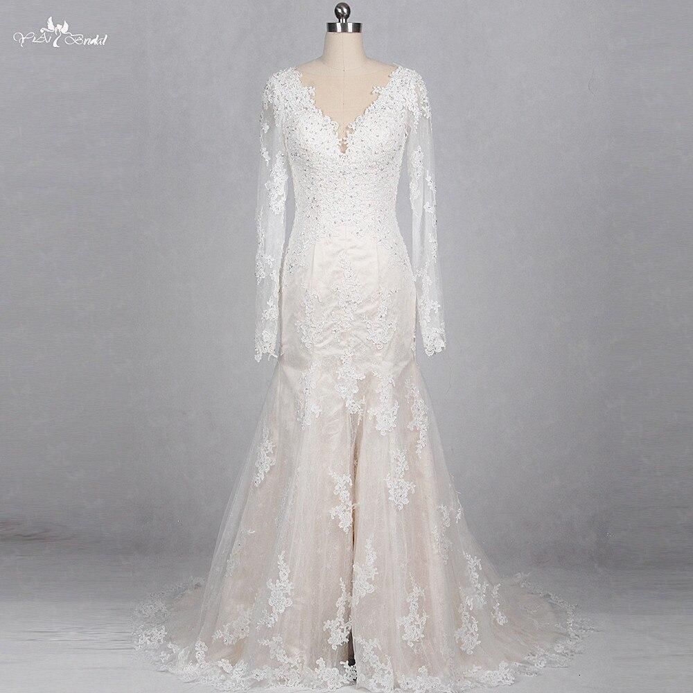 RSW1161 robe de mariée sirène à manches longues