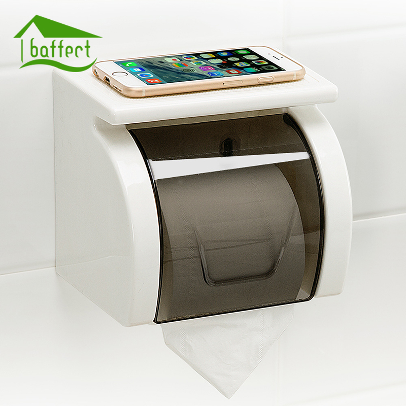 Sucker Durable Wall Mounted Bathroom Toilet Paper Tissue Roll Holder Toilet Holder Roll Rolling Paper Holder Box 4 Colors