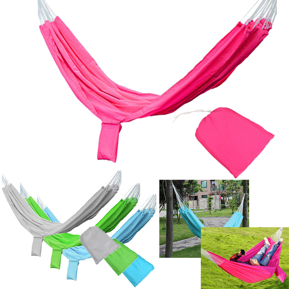 2017 New Hot Sale High Quality Cotton Outdoor Leisure Breathable Double Hammocks Ultralight Camping Hammock
