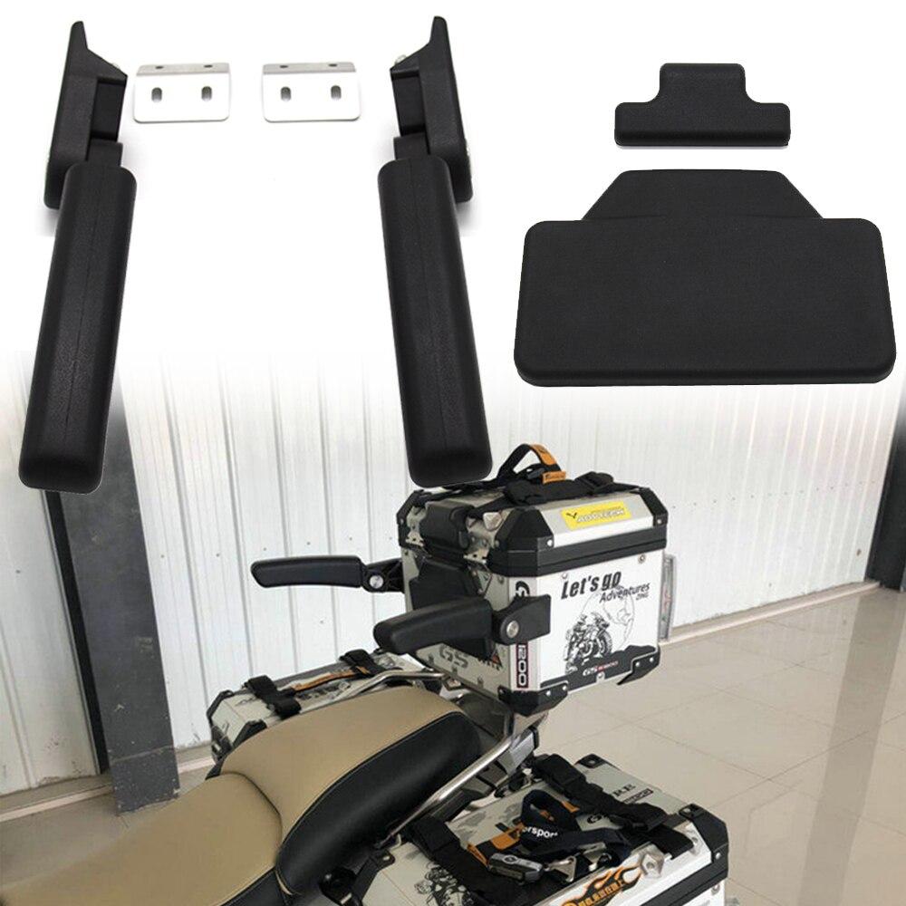 Caixa da Cauda da motocicleta Almofada Passageiro Encosto lazyback Pad + Perfuração Necessário Para BMW R1200GS LC Caixa Traseira Braços de Passageiros
