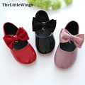 Fashion Liang Pi girls party shoes 2016 new chaussure bowknot design super perfect cute flat princess school shoes Free Shipping