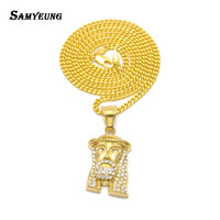 Samyeung Hiphop Jesus Gold Necklaces For Male Hip Hop Stainless Steel Necklace Women Neckless Luxury Jewellery