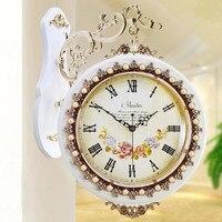 Meijswxj Saat Double sided Wall Clock Reloj Relogio de parede Digital Clock Duvar Saati Horloge Murale Retro Mute wall clocks