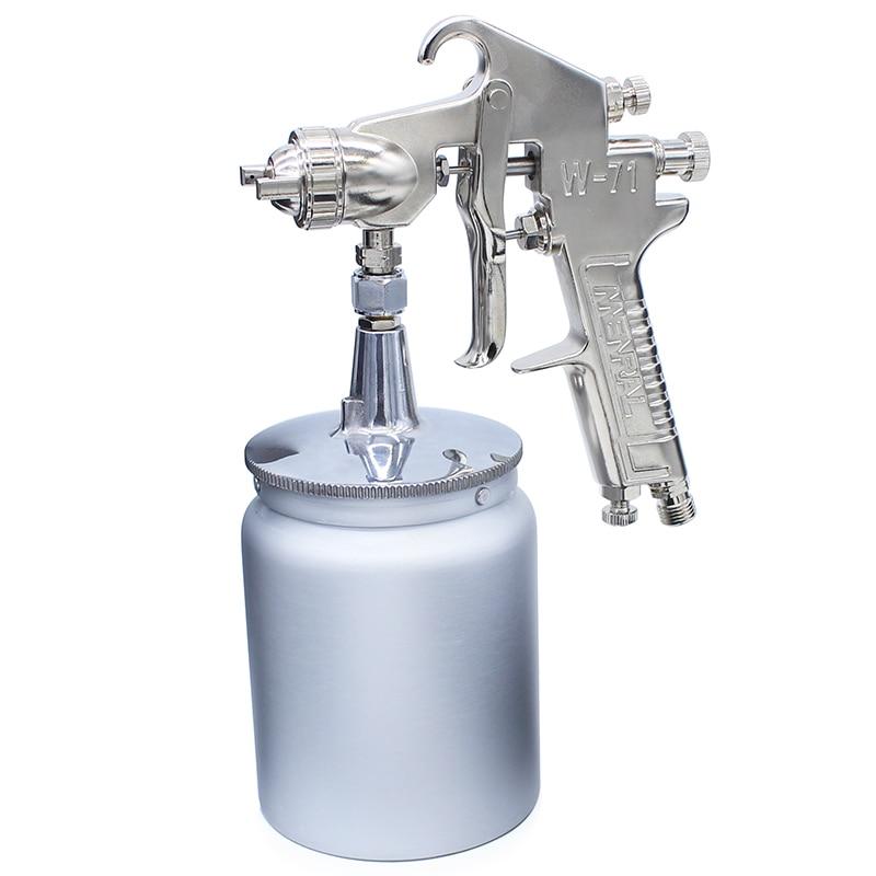 High Quality 1.5mm&600cc W71 Professional Pneumatic Paint Spray Gun Air Painting Spray Gun Tool 2 5l pneumatic hopper gun air spray gun wall paint spray gun painting gun tools