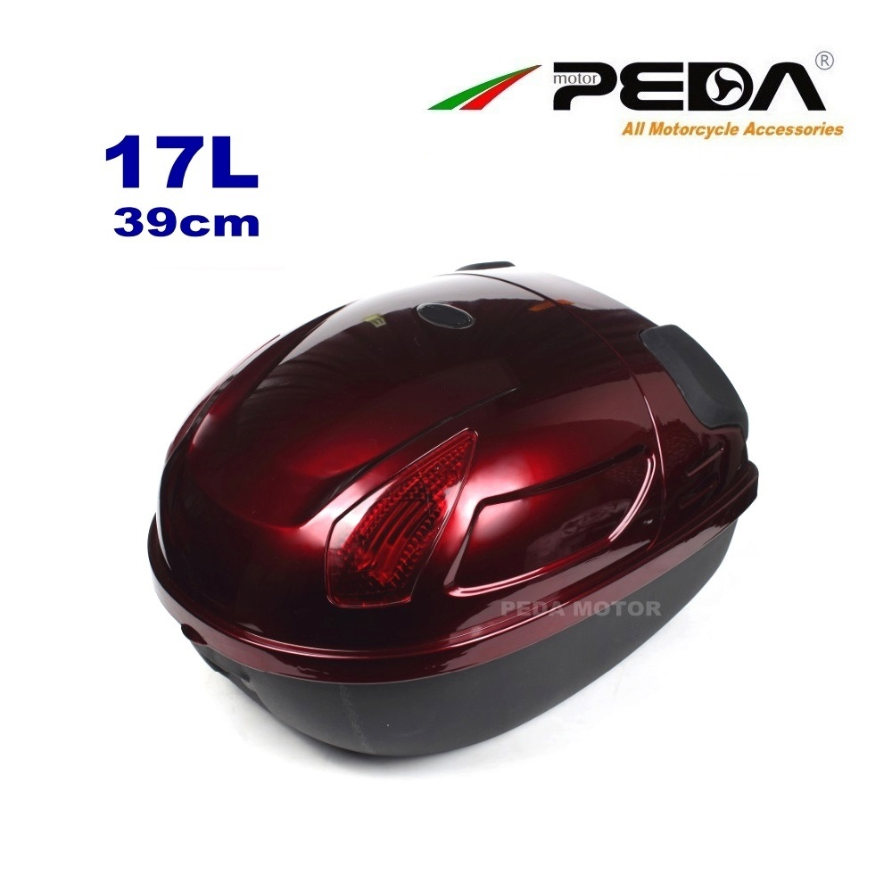 2018 Scooter Trunk PEDA e Bike Box luggage Electric Motorcycle Top Case 17L Tail Box Luggage RED Baul Motocicleta Bauletto