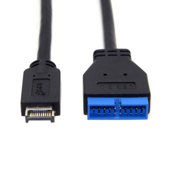 USB 3.1 Front Panel Header to USB 3.0 20Pin Header Extension Cable 20cm for ASUS Motherboard chenyang cy usb 3 0 dual port front panel to motherboard 20pin connector cable for pc 3 5 floppy bay