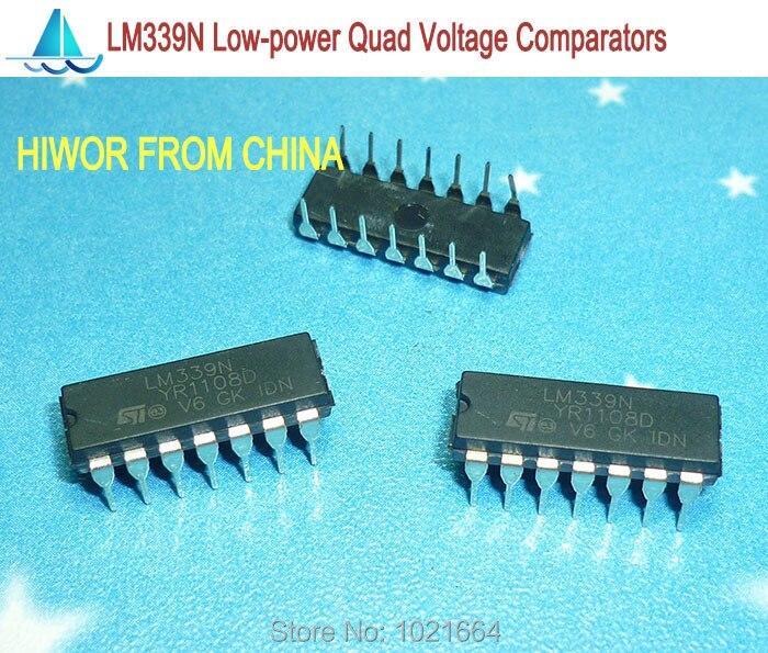 100pcs/lot LM339N LM339 DIP-14 Low Power Quad Voltage Comparator