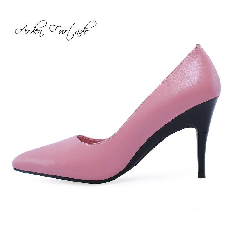 Black Bout Printemps Talons Mode Chaussures pink Furtado Nouveau Femmes Pur Pompes Pointu Élégant Automne Stilettos 2019 Bureau Couleur Dame Rose white De Arden xSgWwPP
