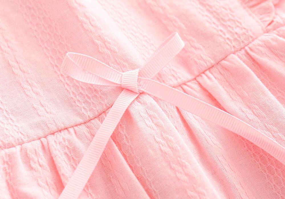 Ruffles BowKnot Zomer Katoen Mini Meisjes Feestjurk Verjaardag - Babykleding - Foto 4
