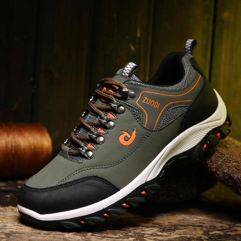 Spring and Autumn Man Sports Shoes Casual Wearable Hiking Sneakers Male Non-slip Running Quality Leather Shoes Large size 47 3