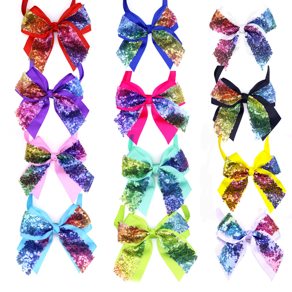 30pcs Christmas Large Dog Bowties Shining Pet Dog Neckties Bow Tie  Middle Dog Pet Big Bows Accessories Dog Wedding Accessories