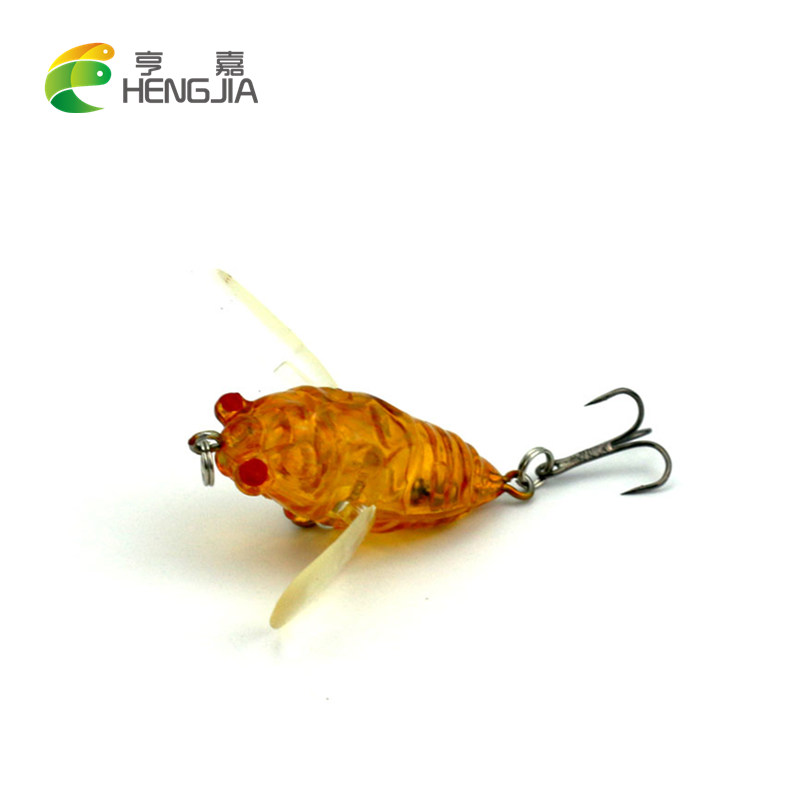 Cicada 6.4g 4cm Perch Insect Bait Fishing Lure Treble Barb Hook Fishing Tackle Artificial floating Bait Fishing accessories 1pcs cicada 6g 4cm perch insect lure bait fishing lure treble barb hooks fishing tackle artificial bait fishing