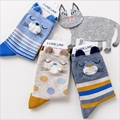2016 New Design lovely Cat Socks cartoon  Autumn And Winter Japanese  style Cotton Printing Tube Socks floor Sock Free Shipping