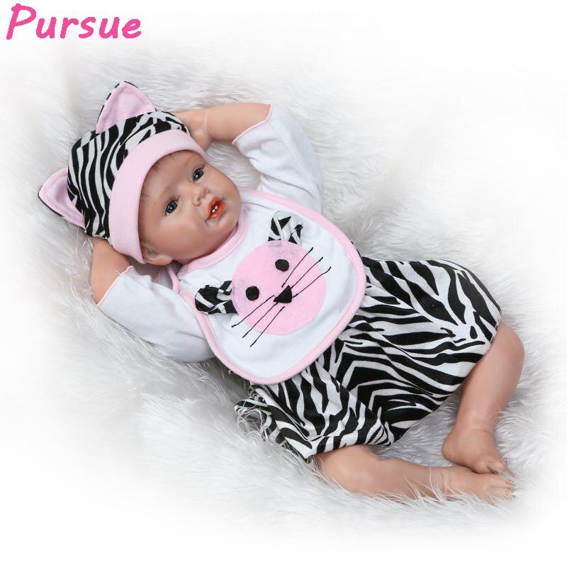 Pursue 55 cm New Cute Real Looking Baby Boy Girl Dolls